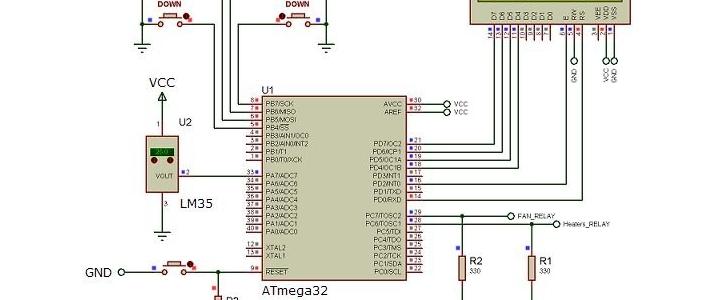 ترمومتر و ترموستات با Bascom AVR