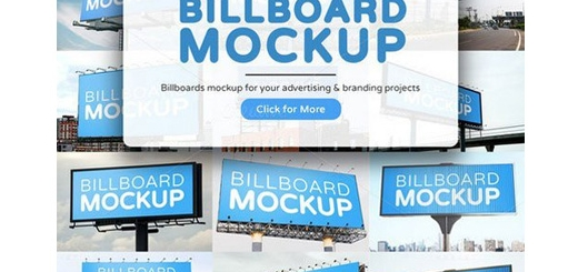 دانلود موکاپ لایه باز بیلبوردهای تبلیغاتی خیابانی