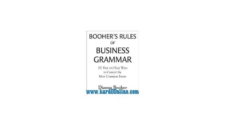 دانلود کتاب Rules Of Business Grammar