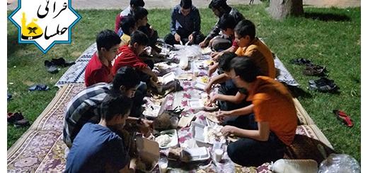 افطاری کودکان و نوجوانان در کنار آب 9 تیر 95