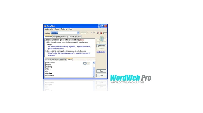 دیکشنری قدرتمند و سریع WordWeb 6.7