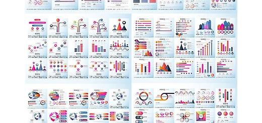 دانلود 109 تصویر لایه باز و وکتور نمودارهای اینفوگرافیکی متنوع