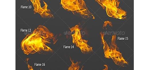 دانلود تصاویر لایه باز شعله های آتش متنوع