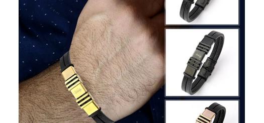 دستبند چرم طرح ویتالی با طراحی فوق العاده شیک و جدید