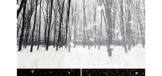 دانلود تصاویر لایه باز افکت برفی برای تصاویر