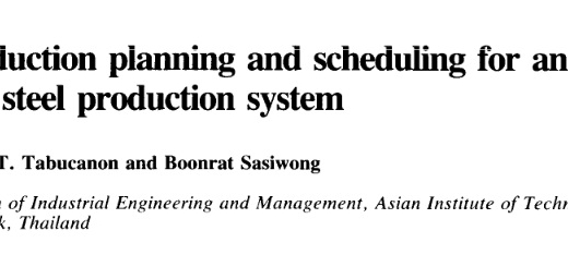 ترجمه مقاله طرح ریزی استخراج بمنظور یک روش تولید آهن و فولاد