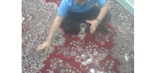 مسابقه چیدن لیوان 4 خرداد 94