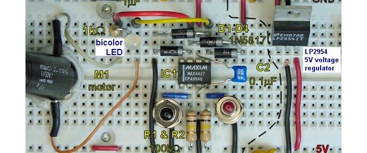پروژه کنترل موتور DC توسط آی سیTC4427