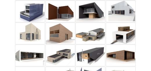 دانلود مدل های آماده سه بعدی آرچ مدل - نمای بیرونی و نقشه خانه ... - شماره 17