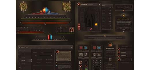 دانلود تصاویر لایه باز UI عناصر طراحی بازی
