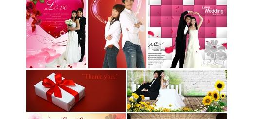 دانلود مجموعه تصاویر لایه باز پوستر عروسی، عروس و داماد - بخش دوم دی وی دی 12