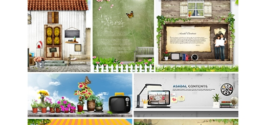 دانلود مجموعه تصاویر لایه باز پوستر صفحه نمایش با آیتم های مختلف