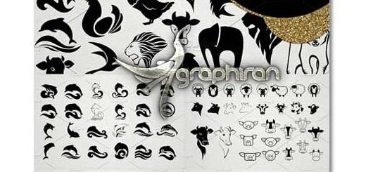 دانلود ۲۰۰ طرح وکتور لوگو انواع حیوانات