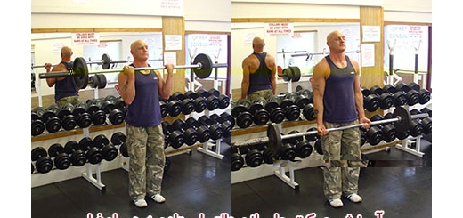 آموزش حرکت جلو بازو هالتر ایستاده در بدنسازی به همراه فیلم
