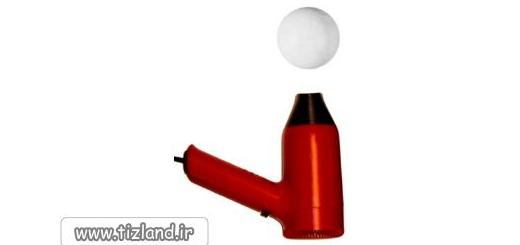 آزمایش معلق کردن توپ در هوا