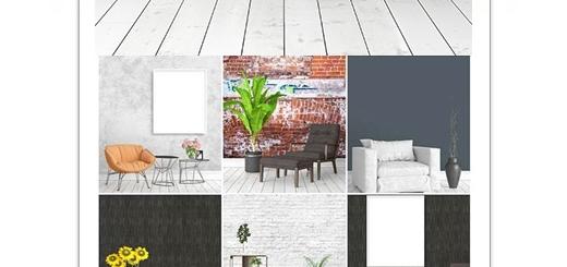دانلود تصاویر با کیفیت طراحی داخلی مدرن با فریم های خالی