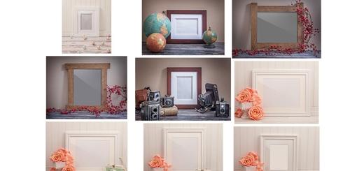 دانلود تصاویر لایه باز فریم های فانتزی متنوع