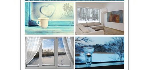 دانلود تصاویر با کیفیت فضای داخلی پنجره های زمستانی