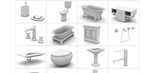 دانلود مدل های آماده سه بعدی آرچ مدل - انواع حمام، دستشویی، روشویی، دوش و متعلقات سرویس های بهداشتی مدرن ... - شماره 06