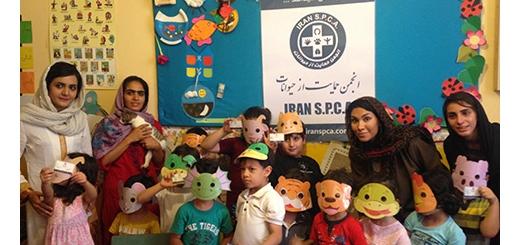 برنامه آموزشی آشنایی با حیوانات در مهد کودک لبخند گلها