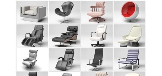 دانلود مدل های آماده سه بعدی آرچ مدل - انواع صندلی راحتی ... - شماره 05