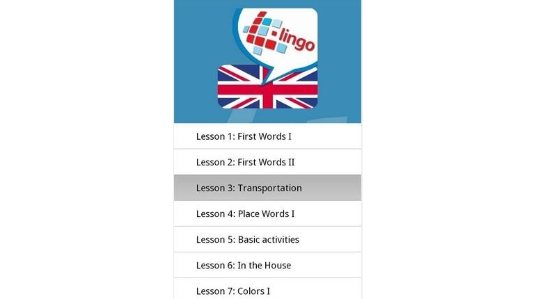 دانلود دیکشنری آندروید زبان انگلیسی L-Lingo Learn English Pro v5.6.23 (for Android)