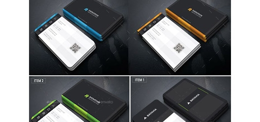 دانلود تصاویر لایه باز قالب آماده کارت ویزیت با رنگ های متنوع