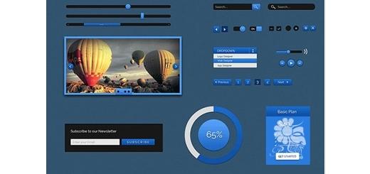 دانلود آموزش طراحی عناصر رابط کاربری تحت وب در فتوشاپ