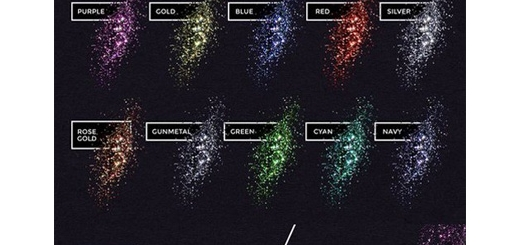دانلود استایل، اکشن و براش فتوشاپ ایجاد افکت ذرات درخشنده رنگارنگ بر روی متن