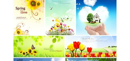 دانلود مجموعه تصاویر لایه باز پوستر پس زمینه های طبیعت و گل - بخش سوم دی وی دی 6