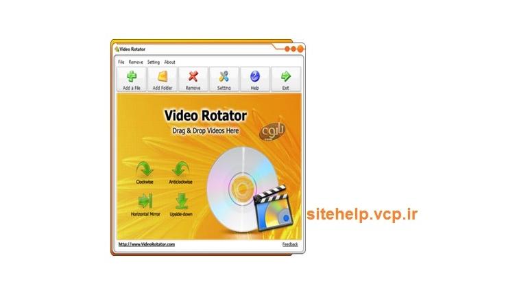 دانلود رایگان نرم افزار جدید چرخاندن فیلم Video Rotator v2.0