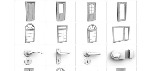 دانلود مدل های آماده سه بعدی آرچ مدل - انواع مدل های در و پنجره و متعلقات آنها ... - شماره 04