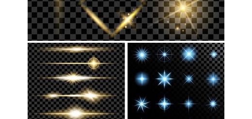 دانلود تصاویر وکتور افکت های نورانی جدا شده از پس زمینه