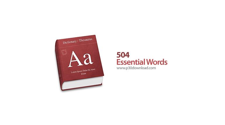 دانلود 504 Essential Words v7.7 x86/x64 - نرم افزار آموزش 504 لغت ضروری مکالمه زبان انگلیسی