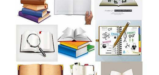 دانلود مجموعه تصاویر وکتور کتاب و دفتر