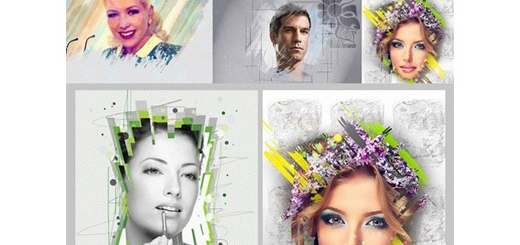 دانلود قالب لایه باز ایجاد افکت های متنوع هنری بر روی تصاویر