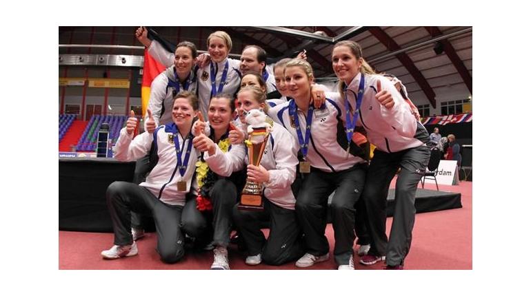 تیم بدمینتون زنان آلمان  با کسب عنوان قهرمانی اروپا تاریخ ساز شد