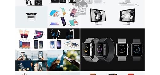 دانلود مجموعه موکاپ لایه باز محصولات شرکت اپل، آیفون، آیپد، اپل واچ، لپ تاپ و ...
