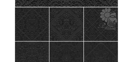 دانلود تصاویر وکتور پس زمینه های مشکی با پترن گلدار سه بعدی