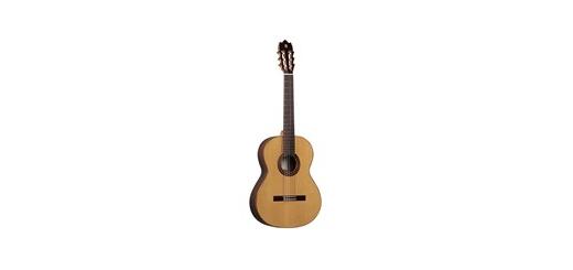 گیتار کلاسیک الحمبرا مدل Iberia - Alhambra Iberia Classical Guitar امتیاز کاربران ( از 3 رای ) 6.9 گیتار کلاسیک الحمبرا مدل Iberia گیتار کلاسیک الحمبرا مدل Iberia مشخصات کلی  گیتار کلاسیک اندازه 4/4 - جنس صفحهی رویی: سدر یکپارچه (Solid Cedar) - جنس صفحهی