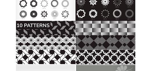 دانلود 100 تصویر وکتور اشکال هندسی متنوع برای طراحی