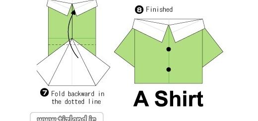آموزش اریگامی لباس