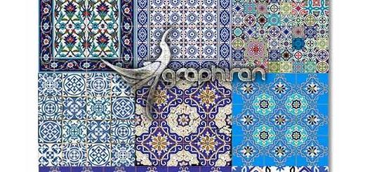 دانلود طرح های وکتور کاشی کاری سنتی و اسلامی مساجد
