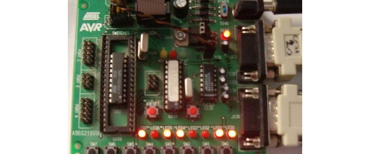 پروژه ارتباط AVR با RS232 و برنامه کنترلی با ویژوال بیسیک